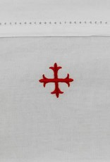 """MDS 100% Cotton Amice with Ties with Red Cross 20"""" x 40"""""""