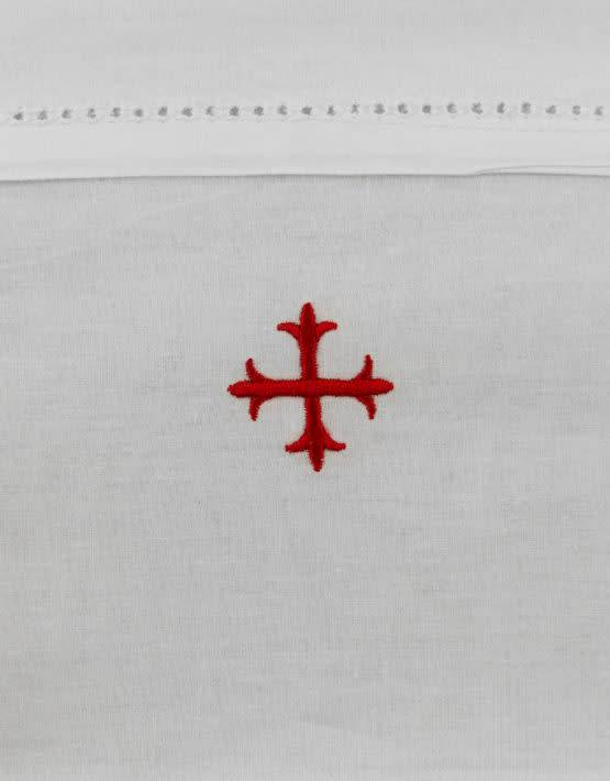 """MDS 100% Cotton Lavabo Towel with Red Cross 20"""" x 16"""""""