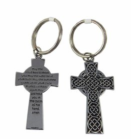 Cathedral Art Celtic May the Road Rise to Meet You Key Ring