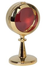 "Koleys Inc. 6 1/4"" Tall, 3"" 24k Gold Plated Reliquary"