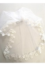 Beatrice Couture Handmade First Communion Mantilla Imported Lace