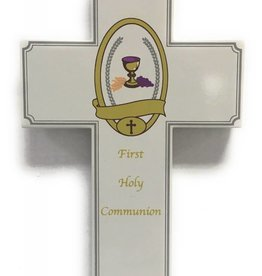 "Lumen Mundi 8"" Wood 1st Communion Wall Cross"