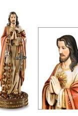 """Avalon Gallery 8 1/2"""" Sacred Heart Rosary Holder"""