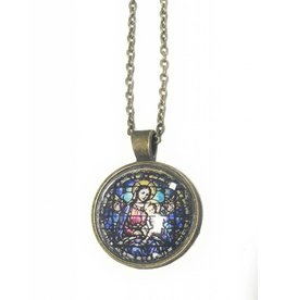 Bonnie Yeung Stained Glass Style Pendant