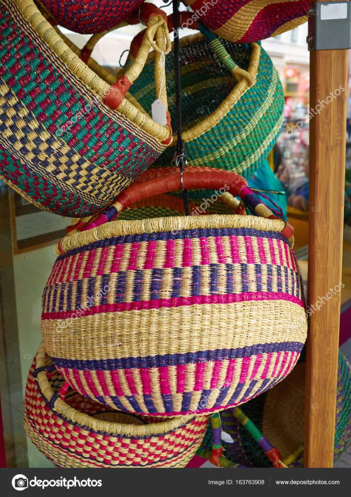 Hand Made African Basket (Assorted Colors and Styles)