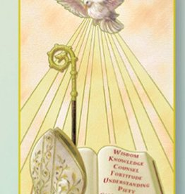 WJ Hirten Holy Spirit Fire Red Confirmation Greeting Card