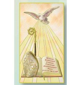 WJ Hirten Holy Spirit Fire Red Confirmation Greeting Card