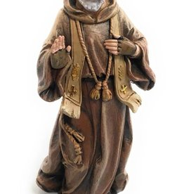 "Avalon Gallery 4"" Saint Pio Statue Resin Figurine with Prayer Gift Box"