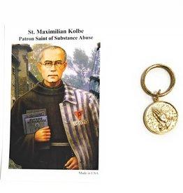 Wallace Brother manufacturing St. Maximillian Kolbe Serenity Prayer Key Chain