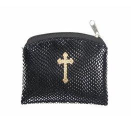 WJ Hirten Black Reptile Pattern Rosary Case