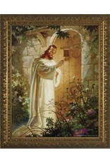 "WJ Hirten 11"" x 14"" Christ Knocking in Golden Frame"