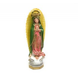"Religious Art Inc 10"" Italian Hand Painted Plaster Our Lady of Guadalupe Statue"