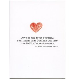 Pio Prints Love is the most beautiful sentiment that God has put into the soul of men and women. Wedding Card