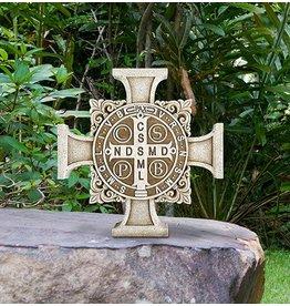 Avalon Gallery Saint Benedict Stepping Stone Cross