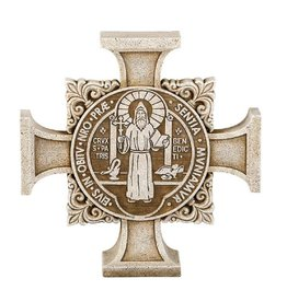 Avalon Gallery Saint Benedict Stepping Stone Cross