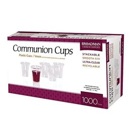 Broadman Church Supplies Box of 1,000 Plastic Communion Cups