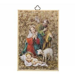WJ Hirten Holy Family Nativity Mosaic Plaque