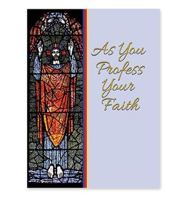 The Printery House As You Profess Your Faith RCIA Baptism Card
