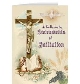 Nelson Fine Art Crucifix RCIA Greeting Card