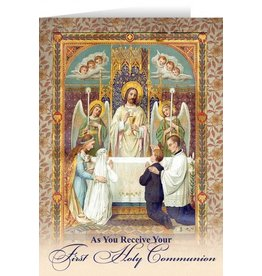 Nelson Fine Art Jesus First Communion Greeting Card