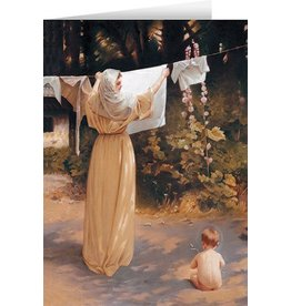 Nelson Fine Art Polish Madonna Greeting Card