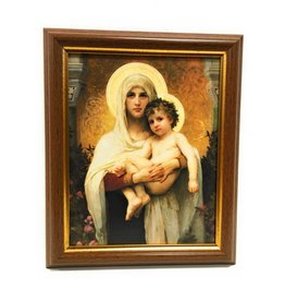 "WJ Hirten 8"" x 10"" Madonna of the Roses with Walnut Frame"