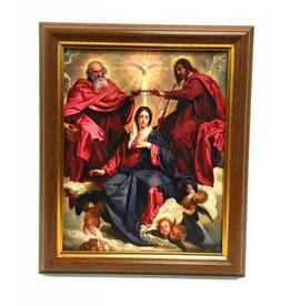 "WJ Hirten 8"" x 10"" The Crowning of Mary with Walnut Frame"