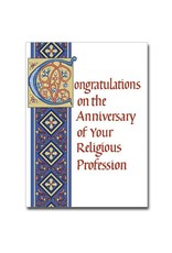 The Printery House Congratulations... Religious Profession Anniversary Card