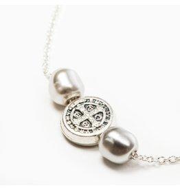 My Saint My Hero Joy Necklace - Silver