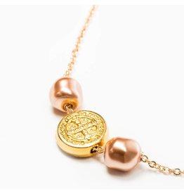 My Saint My Hero Joy Necklace - Gold