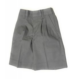 Elderwear Elderwear 1286BR Grey Pleated School Uniform Shorts, Size 10, Waist 25