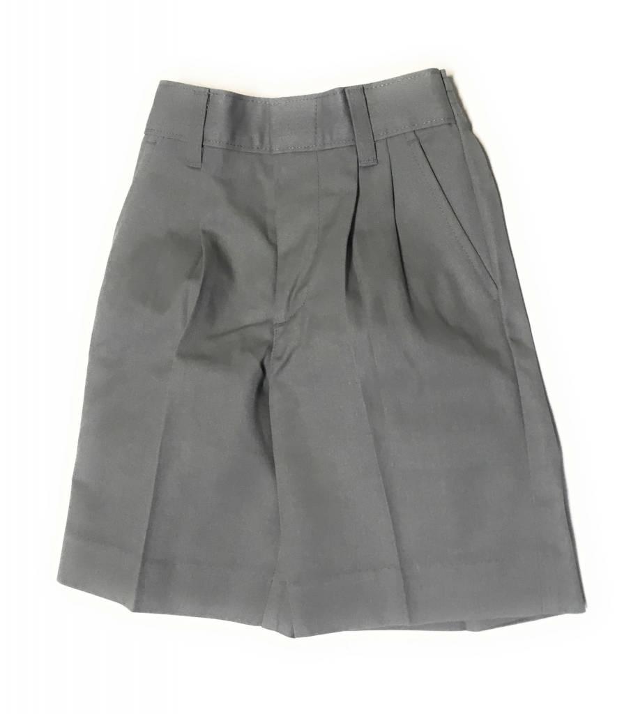 Elderwear Elderwear 1286BR Grey Pleated School Uniform Shorts, Size 10, Waist 25