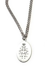 "Bliss Manufacturing 1"" Special Edition Pewter Miraculous Medal on 18"" Chain"