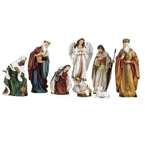 "Joseph's Studio 16.75"" Joseph Studio 8 piece Nativity Set"