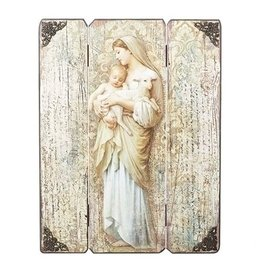 "Roman, Inc 17"" Divine Innocence Wood Panel Plaque"
