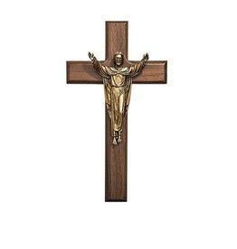 "James Brennan 8"" Walnut Risen Christ Cross"