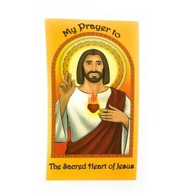 Herald Entertainment Sacred Heart of Jesus Children's Prayer Card