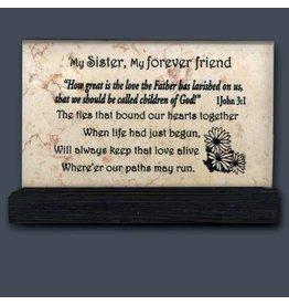 Holy Land Stone My Sister - Prayer Stone
