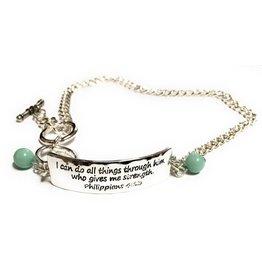 Howard's Inc Philippians 4:13 Chain Wrap Bracelet