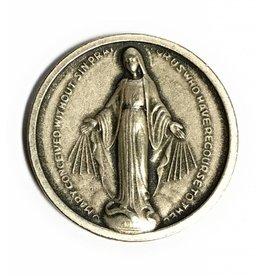 WJ Hirten Miraculous Medal Pocket Token