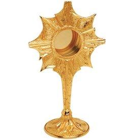 "Koleys Inc. 11.5"", 2.75"" Starburst Gold Plated Reliquary"