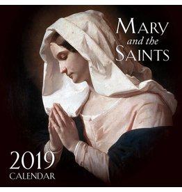 Tan Books 2019 Mary and the Saints Wall Calendar