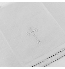 MDS 13.5″ Bread Plate Napkin with White Embroidered Cross