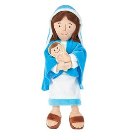 "Hallmark 12.75"" Mother Mary Holding Baby Jesus Stuffed Doll"