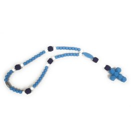 Little Saints Chewelry Little Saints Chewelry Teething Rosary - Artic Blue