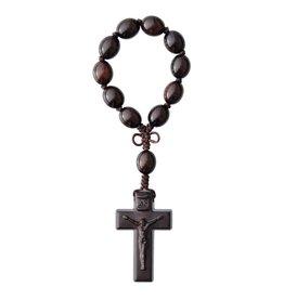 Sine Cera One Decade Rosary Jujube Wood Oval 12mm