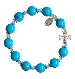 Sine Cera Turquoise Rosary Bracelet (10mm)