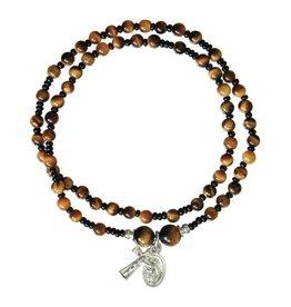 Sine Cera Rosary Bracelet Tiger Eye Twist 4mm