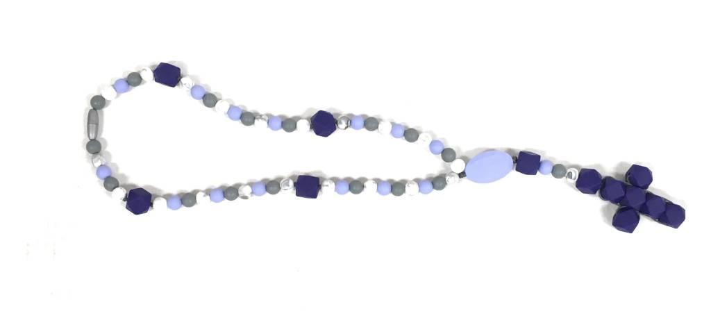 Little Saints Chewelry Little Saints Chewelry Teething Rosary - Purple