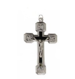 """Religious Art Inc 2 1/2"""" Rosary Crucifix with Stations of The Cross Back"""